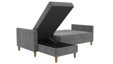 small sectional sleeper sofa Stigall Reversible Sleeper Sectional