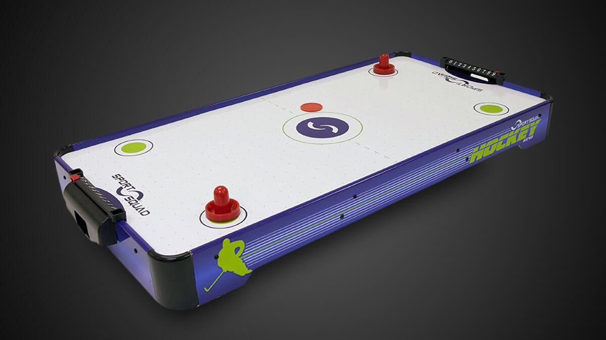 sport squad hx40 mini tabletop electric air hockey table