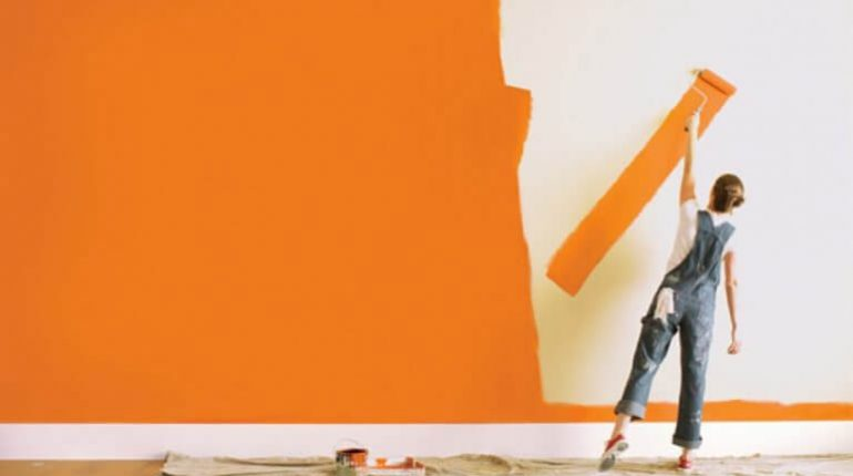 painting tips paint wall with chalk paint