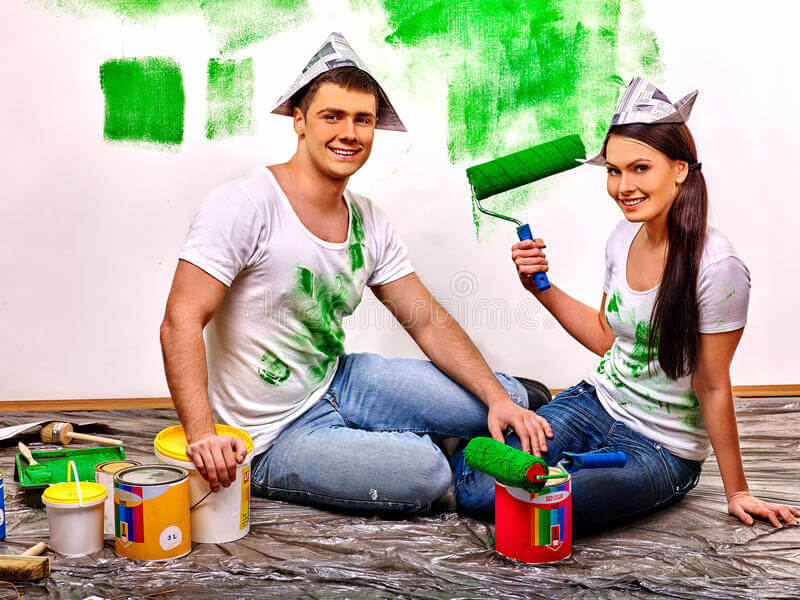 use zero VOCs paint for bedroom